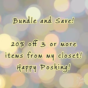 Bundle and Save! 20% off of 3 or more items!